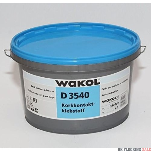 WAKOL D 3540 Cork Contact Adhesive 2.5Kg - Coverage 200g/m2 [12.5m2]