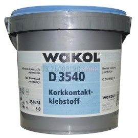 WAKOL D 3540 Cork Contact Adhesive 5.0Kg - Coverage 200g/m2 [25m2]