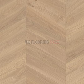 Boen Chevron Oak white Adagio brushed 4V bevel Live Natural B-planks