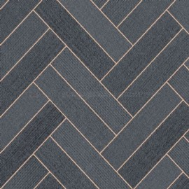 Trend-Tex Arden Twin Parquet Black Gold