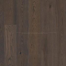 Boen Castle planks Oak Brown Jasper brushed, dark brown pigmented, 2V bevel Live Natural brushed
