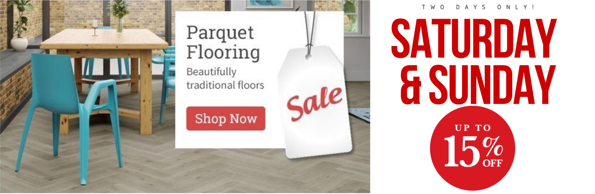 Wood flooring sale